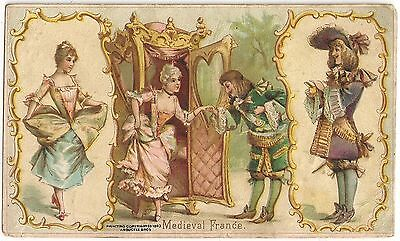 """""""Medieval France"""" Sports & Pastimes of Nations Arbuckle Coffee Trade Card"""