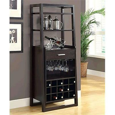 Monarch Specialties I 2543 Cappuccino 60 in. Ladder Style Bar Unit