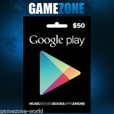 $50 Google PLAY Store USA Gift Card - 50 Dollar Google Play Android USD Code