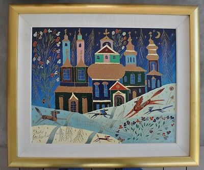 "Yuri Gorbachev ""Winter in St. Petersburg"" Original Oil Painting Canvas, Russia"