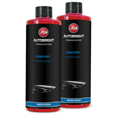 Autobright Foam Fury Snow Foam 1 Litre Incredibly Thick Cherry Scent Wax Safe