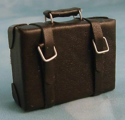 Dolls House Miniature 1/12th Scale Brown Suitcase D1195
