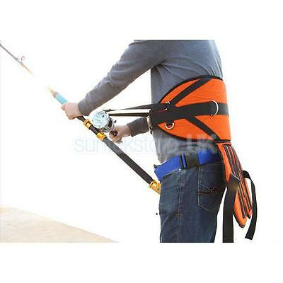 Fishing Stand Up Fighting Belt Back Harness Waist Rod Holder with Cushion