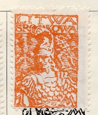 Lithuania (Central) 1920 Early Issue Fine Mint Hinged 1m. 074629