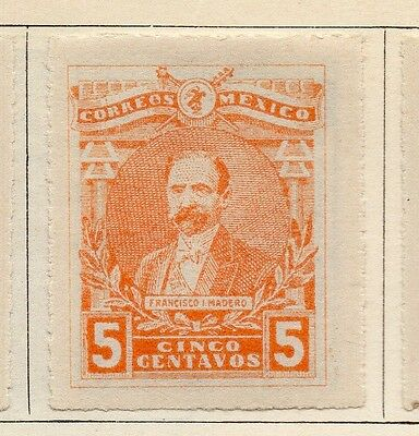 Mexico 1915 Early Issue Fine Mint Hinged 5c. Imperf 074500