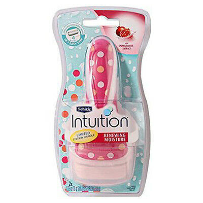 Schick Intuition Pomegranate Renewing Moisture 1 Razor +2 Cartridge Blade Refill