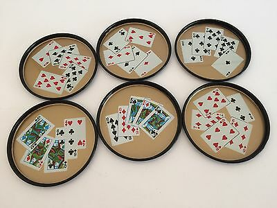 RETRO Bar Coasters - Poker Card Theme - Tin