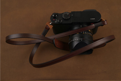 Handmade Brown Leather Neck Shoulder Belt Strap Sling for Leica Sony Fuji Camera
