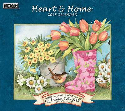 Heart and Home 2017 Lang Calendar By Susan Winget Packed Well New Free Shipping