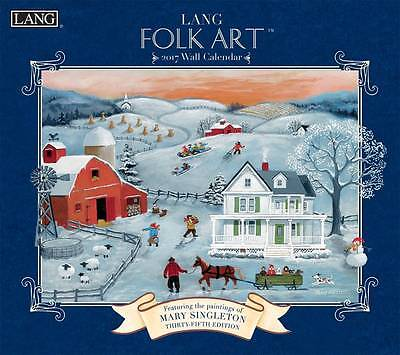 Lang Folk Art 2017 Lang Calendar By Mary Singleton Packed Well New Free Shipping
