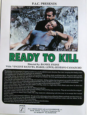 READY TO KILL brochure 1994 Danilo Massi Vincent Ricotta Isabel Lewis Camazcho