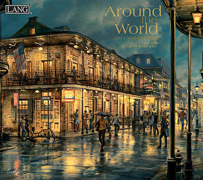 Around The World 2017 Lang Calendar By Evgeny Lushpin Packed Well New Free Ship