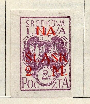 Lithuania (Central) 1921 Issue Fine Mint Hinged 2m. Imperf Surcharged 074668