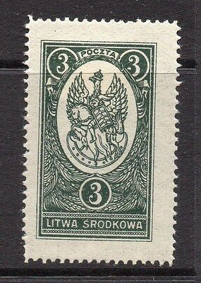 Lithuania (Central) 1920 Early Issue Fine Mint Hinged 3m. 074772