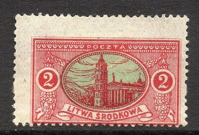 Lithuania (Central) 1920 Early Issue Fine Mint Hinged 2m. 074774