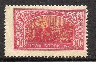 Lithuania (Central) 1920 Early Issue Fine Mint Hinged 10m. 074776