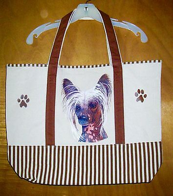 CHINESE CRESTED - 100% Cotton Canvas, heavy duty, X-Large TOTE BAG