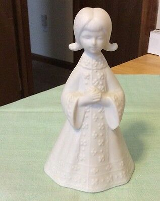 Bell, Vintage Bisque Porcelain Praying Girl