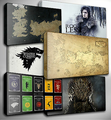 Choose your GAME of THRONES - Giclee CANVAS Wall Art Picture Prints