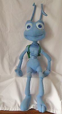 "Authentic Disney A Bug's Life Large 36"" Tall Blue Ant Flik Plush Stuffed Animal"