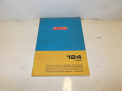 Fiat 124 Usa Body Work Spare Parts Catalog