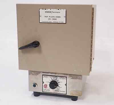 SYBRON THERMOLYNE TYPE 1900 HOT PLATE w/ OV 10600 HOT PLATE OVEN, WORKING!