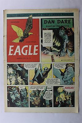 Eagle #47 March 2nd 1951 VG Vintage Comic Golden Age Dan Dare Cartoon Strips