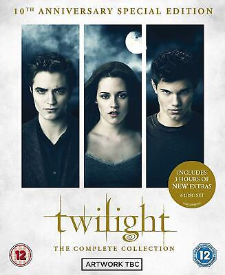The Twilight Saga: Complete Collection Dvd Box Set New
