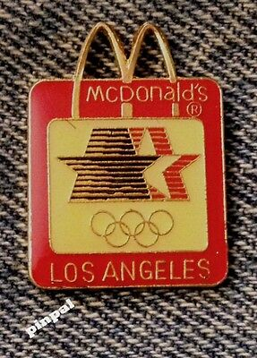 McDonalds Pin with Arches Cutout~Star in Motion Logo~Vintage~1984 Los Angeles