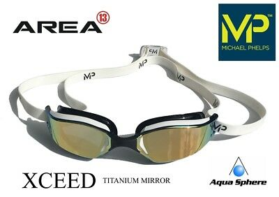 MP Michael Phelps XCEED Swimming Goggles White, RACING GOGGLES Aqua Sphere