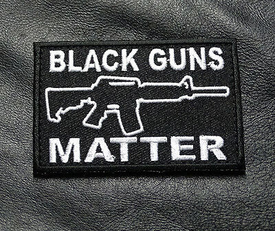Black Guns Matter Tactical Morale 3 Inch Milspec Army Hook  Patch  (B/w)