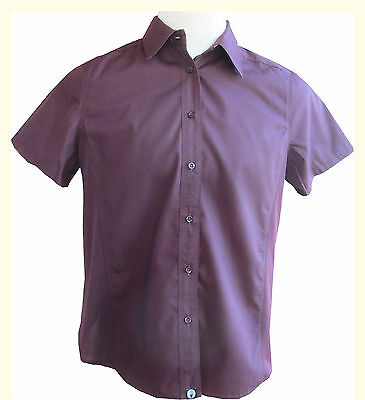 Chef Works Women's Purple Utility Cook Shirt, Size 2XL