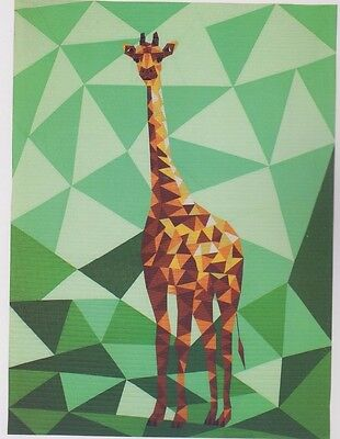 The Giraffe Abstractions - fabulous foundation paper pieced quilt PATTERN