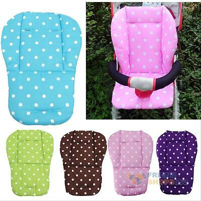 Baby Infant Pushchair Stroller Kids Seat Pad Pram Liner Pad Cushion Mat Cotton