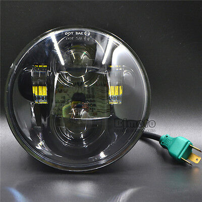 "For Harley 5-3/4"" 5.75"" Motorcycle Projector Daymaker Hi/Lo Beam LED Head Light"