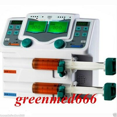 CE Double 2-Channel Syringe Injection Pump LCD Screen Voice Alarm Control