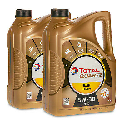 10 (2x5) Liter TOTAL QUARTZ INEO LONG LIFE 5W-30 Motoröl VW 504.00/507.00