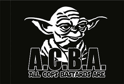 All Cops Bastards Are (Acab) Flagge