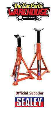 Sealey Tools AS2500 ~ 2.5 Ton Each ~ 5 Ton Pair Axle Stands 505mm High Car / Van