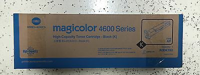 Genuine Konica Minolta Magicolour 4600 4650 4695 Black Toner Cartridge A0DK192