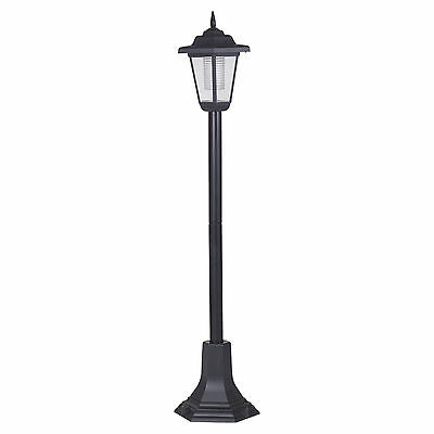 Solar Powered Garden Lights Lantern Lamp Black LED Pathway Driveway Outdoor Post
