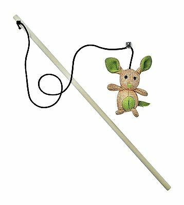 Catnip Toy by 3Cats - Stuffed Mouse - Teaser Wand - Elastic Cord with Bell - ...