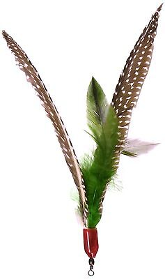 Guinea Feather Refill for Da Bird Cat Toy (One refill)