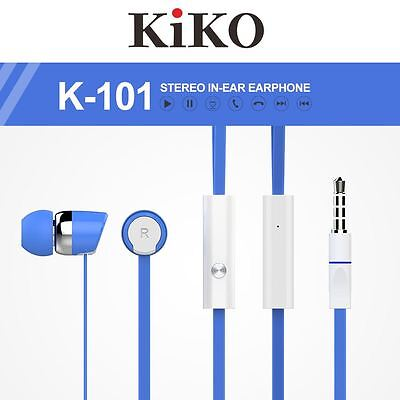 22Lot/Pcs Blue Super Stereo 3.5mm Earphone Earbud with Mic for Samsung Galaxy