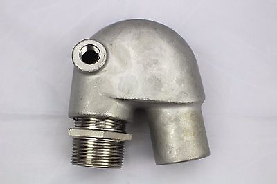 Stainless Steel Exhaust Mixing Elbow Replaces Yanmar GM 124070-13520