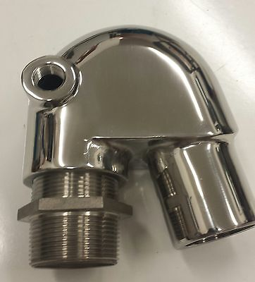 Stainless Steel Polished Exhaust Mixing Elbow Replaces 128370-13600 GM Models
