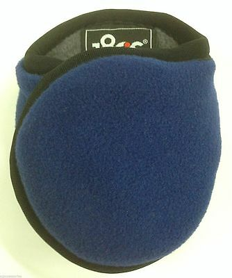 180s Men's Blue Adjustable Fleece Ear Warmers NEW Ear Muffs OSFA Adult Blueprint