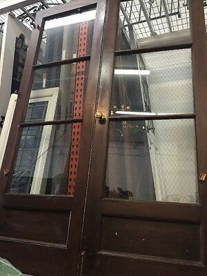 1920/30's Old French Doors With Chicken Wire Poet Rod McKuen  Estate