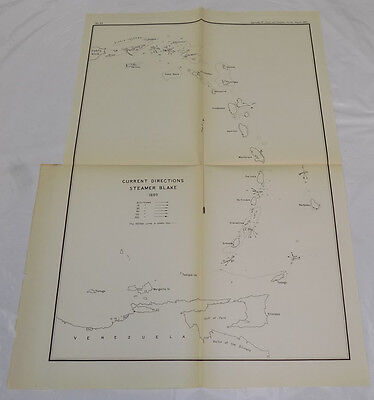 1890 Coast & Geodetic Survey Map/ISLANDS BETWEEN VIRGIN ISLANDS/VENEZUELA/B/1889
