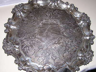 Antique Sterling Silver Serving Tray
